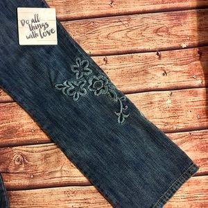 EUC Embroidered Sigrid Olsen Sz 10P Jeans Gorgeous